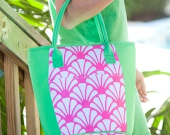 Shelly Insulated Cooler-Shell Lunch Bag-Personalized-Monogram-Cooler Bag-Cold Bag