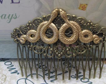 Snake Hair Comb serpent Hair accessories Vintage Hair combs Decorative Combs