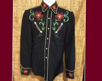 Vintage 1950s Cal-Ranch Western Shirt