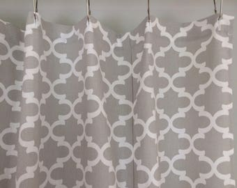 brown and grey shower curtain. Gray Fabric Shower Curtain Trellis Ticking Stripe Black Brown Grey Navy Blue