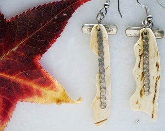 Carved Bone Chime earrings