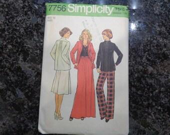 Vintage Simplicity 7756 misses' sportswear pattern