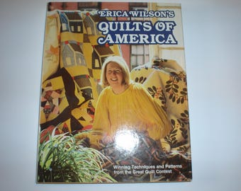 Quilts of America by Erica Wilson Hardback with dust cover   Item 122