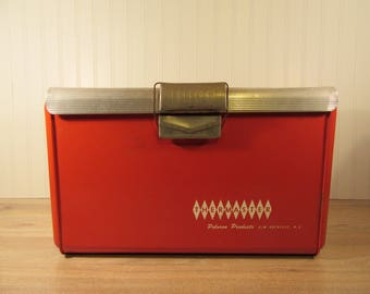 Vintage red metal Thermaster Cooler