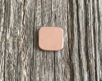 Rose Gold Fill Round Corner Square 20g 1/2 inch