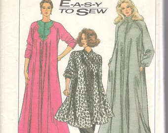 Simplicity 8875 1980s Misses Easy to Sew Zip Front Knit Robe Pull on Pants Pattern Womens Vintage Sewing Pattern Size SM Bust 32 34 or MD