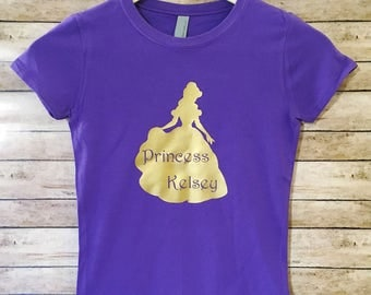 Girls Disney Shirt, Belle Shirt, Princess Shirt, Kids Disney Shirt, Cute Disney Shirt, Beauty and the Beast, Toddler Disney Shirt, Disney