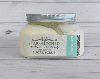 All Natural Peppermint Shea Souffle Sugar Scrub 8 Ounce