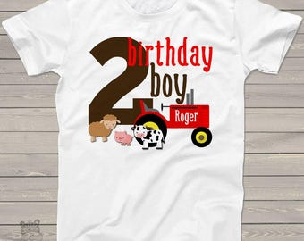 birthday boy farm shirt - second birthday - or any age - old mcdonald theme birthday party shirt perfectly adorable