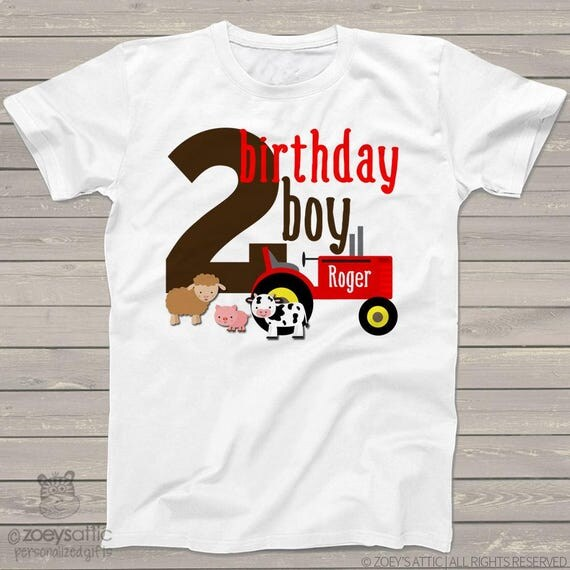 birthday boy farm shirt - second birthday - or any age - old mcdonald theme birthday party shirt perfectly adorable