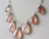 RESERVED Seven Stone Sunstone Necklace Handmade Jewelry