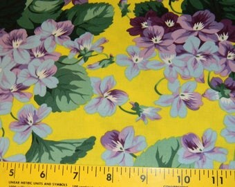 Botanical Violets Cotton Fabric by Snow Leopard Designs Half Yard