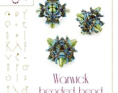 Beading tutorial / pattern Warwick beaded bead Beading instruction in PDF – for personal use only