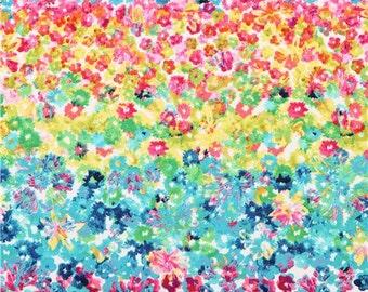 192683 colorful Flower Fields flower bed flower fabric Michael Miller Spring Fling