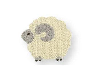 208711 beige sheep iron-on transfer sheet 1 piece