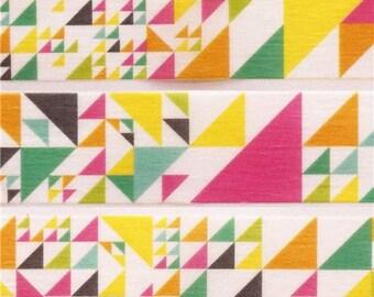 198403 mt Washi Masking Tape deco tape triangles geo pink green yellow