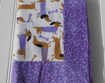 READY TO SHIP Baby receiving 100% cotton flannel double-sided blanket with trim