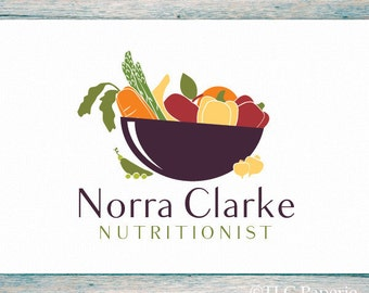 Nutritionist Logo Design, Custom Logo, Vegetables Logo, Business Logo, Premade Logo, Kitchen Logo, Restaurant Logo, Cooks Logo, Chef Logo