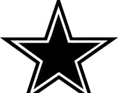 ON SALE Star Decal Vinyl Outlined Star Sticker Dallas Cowboy Star Sticker Wall Art Dallas Cowboy Decal Football Logo 122