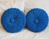 Vintage Blue Corduroy Pillows