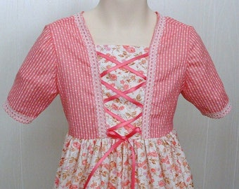 Girls size 3 Felicity American Girl Peasant Dress Swiss Miss Dress up Theater Costume    Ready to Ship