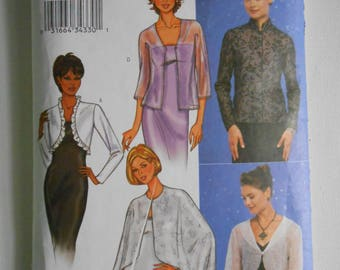 Misses Evening Jacket and Cape Sewing Pattern Butterick 3345 Size 12 14 16 Bust 34 36 38