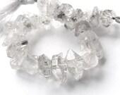 Herkimer Diamond Quartz, Center Drilled Herkimer Diamond, Double Terminated Crystal. Semi Precious Gemstone X Large 15-18mm (bhkx) 20% OFF