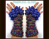 Crochet Pattern, Fingerless gloves,  Dragon Scale, mermaid stitch -  crocodile stitch glove. dragon glove pattern, #1086