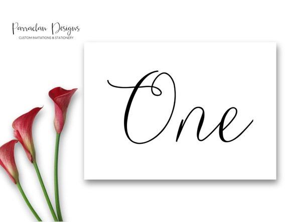Wedding Table Numbers | Reception Table Numbers | Table Numbers | Custom Wedding Singage | {FS01}