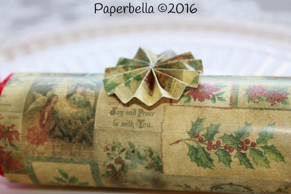 Fill Your Own Party Crackers Christmas Old Fashioned Traditional Religious Party Popper Personalize with Your Monogram and a Paper Rosette