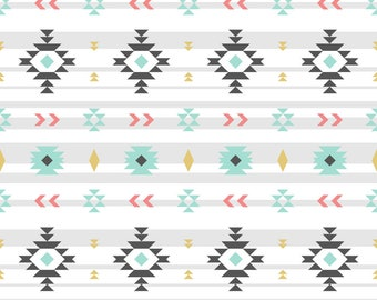 Southwest Tribal Fabric - Southwest Baby Bedding By Sierra Gallagher - Southwest Aztec Nursery Cotton Fabric By The Yard With Spoonflower