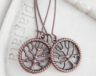 Autumn Tree Earrings - Willow Tree