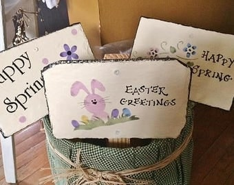 """Easter/Spring stakes, approx. 15"""" long"""