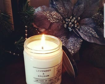 Lavender & Balsam soy candle