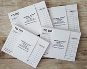 ON SALE-To-Do List Cards Stack/Refills/Double-Sided Daily Planner Cards with Inspiring Quotes/Organize/Planning/2017/Journal Junky