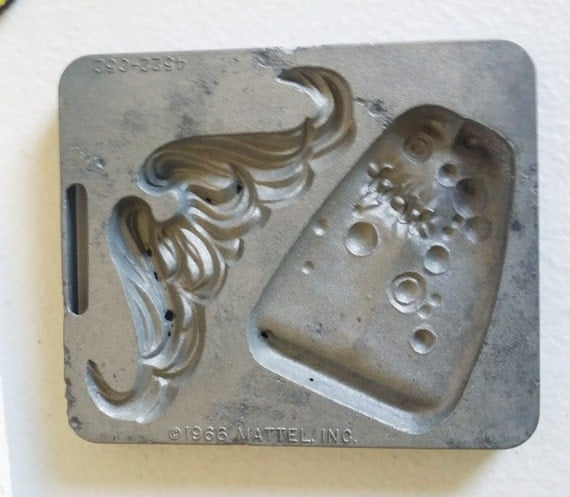 VINTAGE mustache tongue METAL MOLD Thing Maker Fright Factory Mattel 1966 polymer clay molds vintage mold