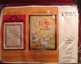 Vintage--1982--Creative Circle--The Lord Is My Shepherd--Kit--Embroidery--Sealed--Unused