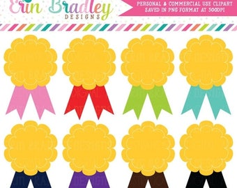 50% OFF SALE Award Clipart Ribbon Badges Clip Art Graphics for School or Sports Personal & Commercial Use