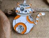 BB-Cat enamel lapel pin