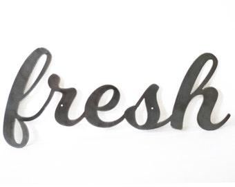 Wall Hanging Metal Word Art - Fresh