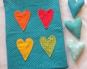 CUSTOM LISTING Rainbow Love pouches