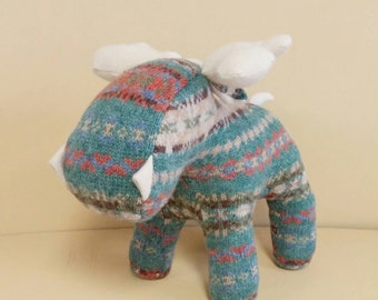 Wool Moose, Handmade, Stuffed Animal, Toy, Children, Plush