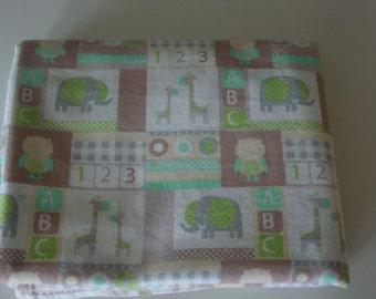 Handmade animal baby receiving/crib/swaddling blanket