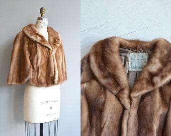 Autumn Haze mink stole | vintage 1950s fur stole | 50s mink stole