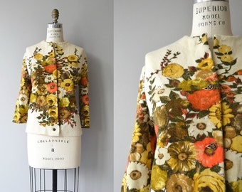 Windy Hill cardigan | vintage 1960s cardigan | wool floral 60s sweater