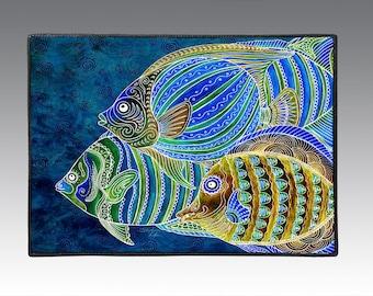 """Tropical Fish School  18"""" x 24"""" Door Mat, Floor Mat, Home Decor"""