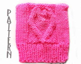 Love Trumps Hate Knitting Pattern- Pussy Cat Hat Pattern- Pussy Hat Project- Pattern for Knit Hat-  Hat Knitting Pattern- Pink Hat Pattern