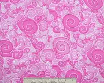 Pink Ribbon Fabric - Breast Cancer Awareness C2339 - Timeless Treasures YARD