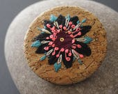 "Embroidered brooch - embroidery - boho - folk - ""Anemonia"""