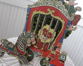 Vintage Circus Wall Hangings * Nursery * c1950 * The Dolly Toy Company